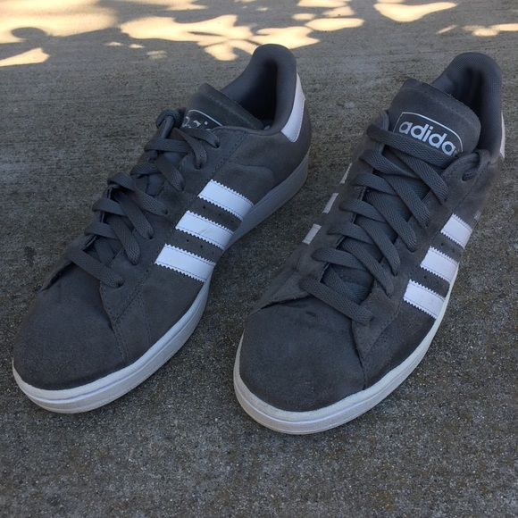 separation shoes ba1e4 8a4ed adidas Other - Adidas Campus II Gray Suede 3 Stripe White Shoes